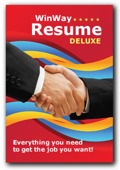 WinWay Resume Deluxe the Leader in Resume Software Download or CD