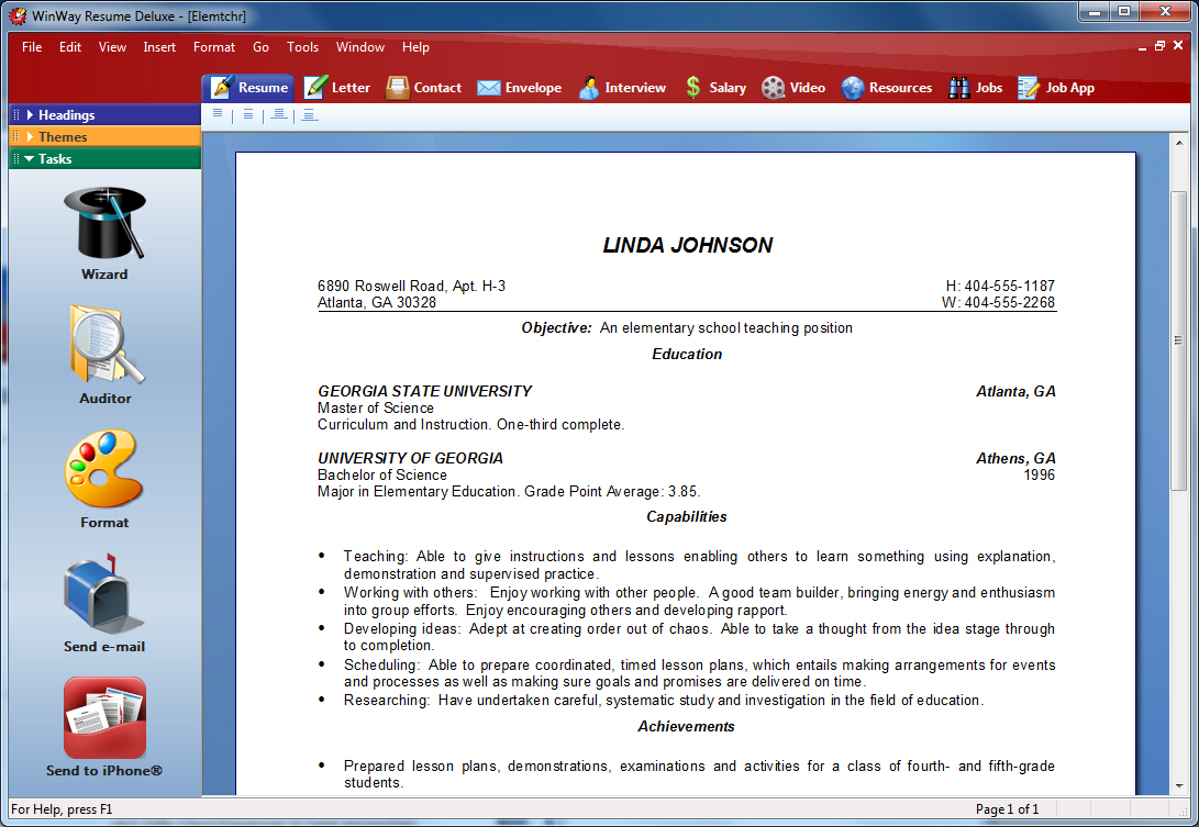 Autowriter Writes Your Resumes And Letters Automatically